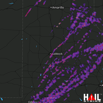 Hail Map Mesquite, TX 05-21-2019