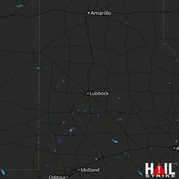 Hail Map Brownfield, TX 10-03-2019