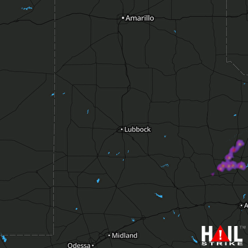Hail Map Knox City, TX 04-22-2020
