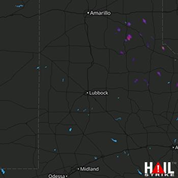 Hail Map LUBBOCK 09-02-2020