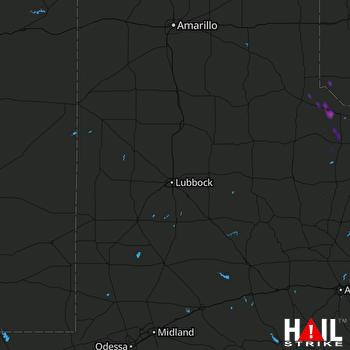 Hail Map LUBBOCK 10-23-2020