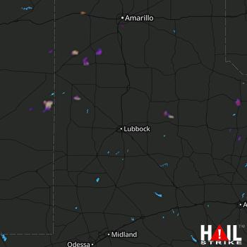 Hail Map Crowell, TX 09-07-2021
