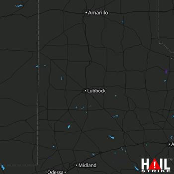 Hail Map LUBBOCK 10-02-2021