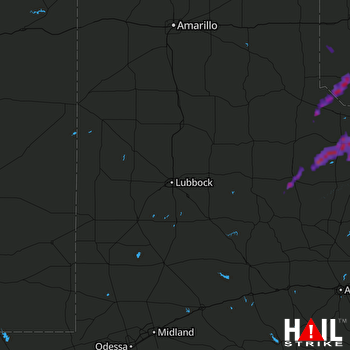 Hail Map Crowell, TX 05-18-2017