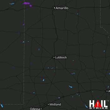 Hail Map LUBBOCK 06-23-2017