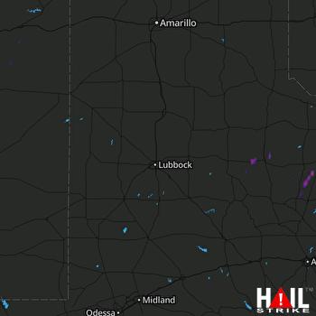 Hail Map Munday, TX 07-08-2017
