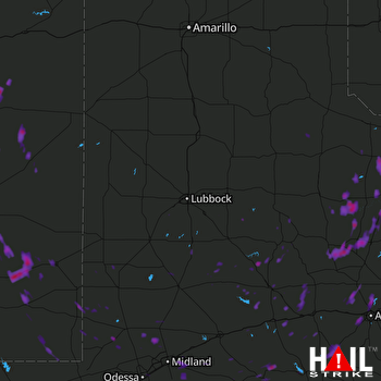 Hail Map Hawley, TX 08-07-2017