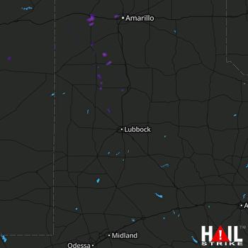 Hail Map Vega, TX 08-07-2017