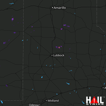 Hail Map Petersburg, TX 08-12-2017