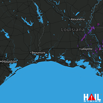 Hail Map Denham Springs, LA 02-06-2020
