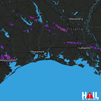 Hail Map Conroe, TX 04-10-2020