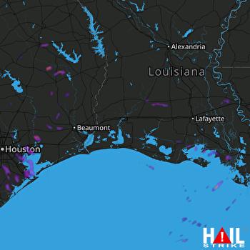 Hail Map Baytown, TX 05-28-2020