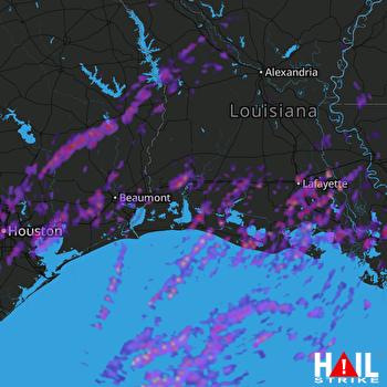 Hail Map Houston, TX 03-29-2017