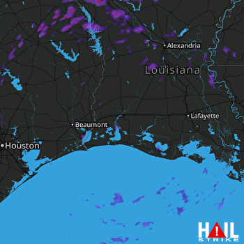 Hail Map Nacogdoches, TX 05-29-2017
