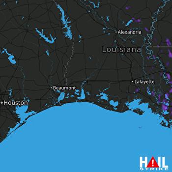 Hail Map Gonzales, LA 08-19-2017