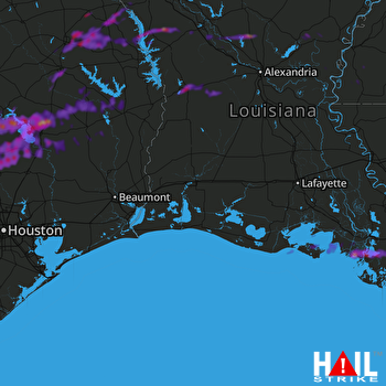 Hail Map Livingston, TX 03-19-2018
