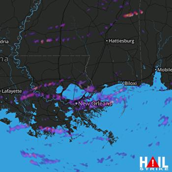 Hail Map New Orleans, LA 05-12-2019
