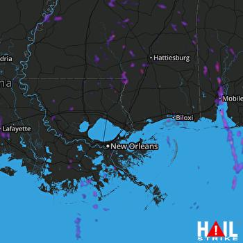 Hail Map Baton Rouge, LA 06-28-2019