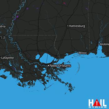 Hail Map NEW ORLEANS 07-07-2019