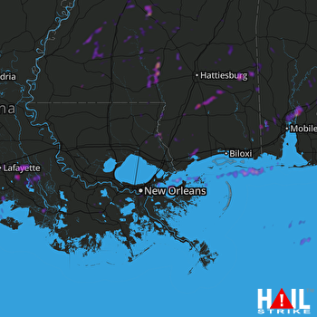 Hail Map Columbia, MS 05-27-2020