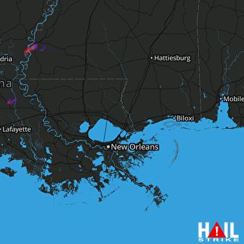 Hail Map Natchez, MS 11-27-2020