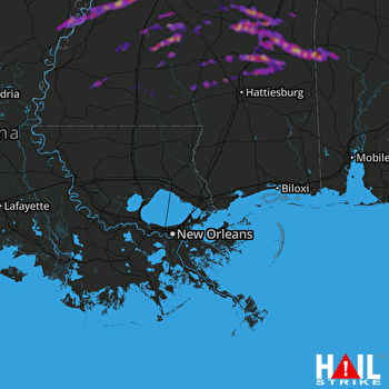 Hail Map Jackson, MS 03-27-2017