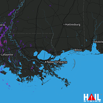 Hail Map Opelousas, LA 04-30-2017