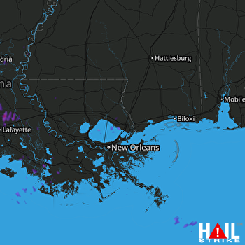 Hail Map Opelousas, LA 05-04-2017