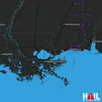 Hail Map Gulfport, MS 06-15-2017
