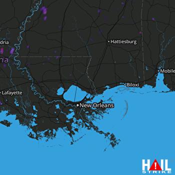 Hail Map Jackson, MS 05-25-2018