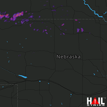 Hail Map Martin, SD 08-15-2018