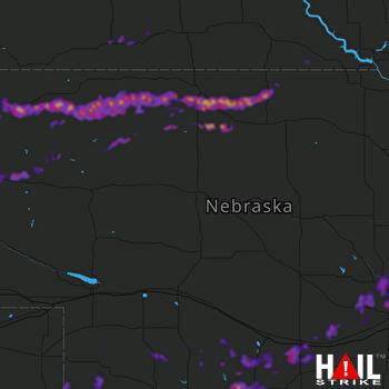 Hail Map Cambridge, NE 06-21-2019
