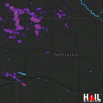 Hail Map Martin, SD 07-04-2019