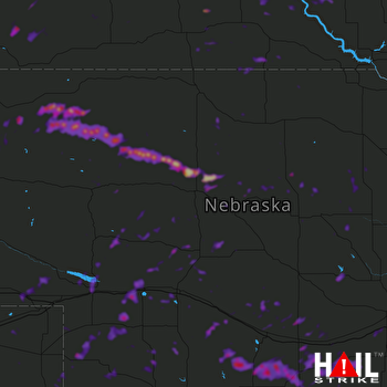 Hail Map Holdrege, NE 07-05-2019