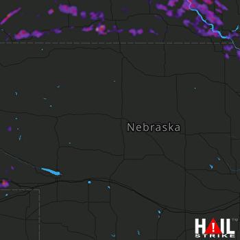 Hail Map Sidney, NE 07-17-2019