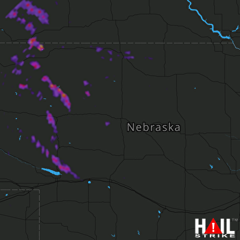 Hail Map Gordon, NE 08-04-2019