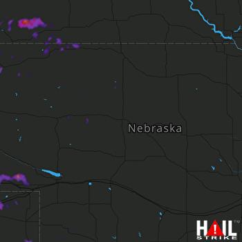 Hail Map Porcupine, SD 08-12-2019