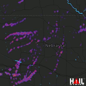 Hail Map Cozad, NE 09-12-2019