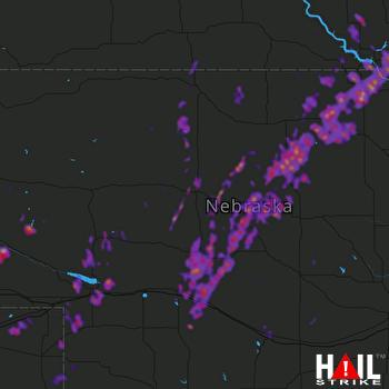 Hail Map North Platte, NE 06-09-2020
