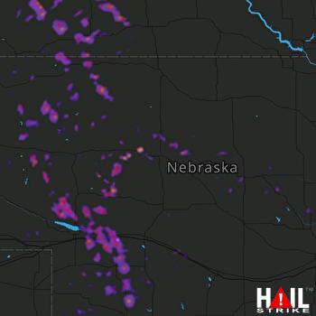 Hail Map Ord, NE 07-20-2020