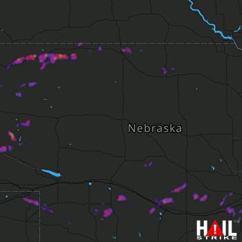 Hail Map Sidney, NE 08-06-2020