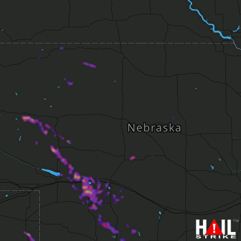 Hail Map North Platte, NE 05-14-2021