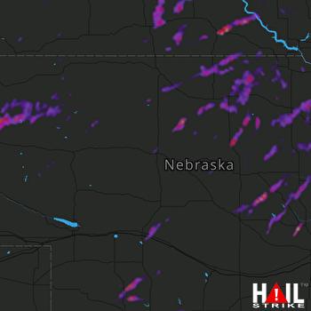 Hail Map Oneill, NE 08-27-2021