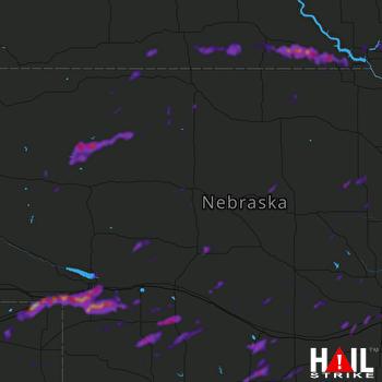 Hail Map Ogallala, NE 09-17-2021