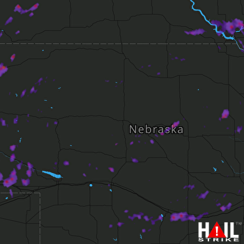 Hail Map Chadron, NE 06-28-2017
