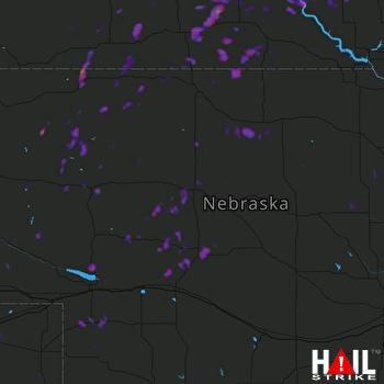 Hail Map Grant, NE 07-26-2017