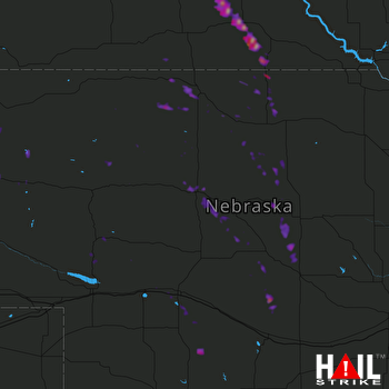 Hail Map NORTH PLATTE 08-06-2017