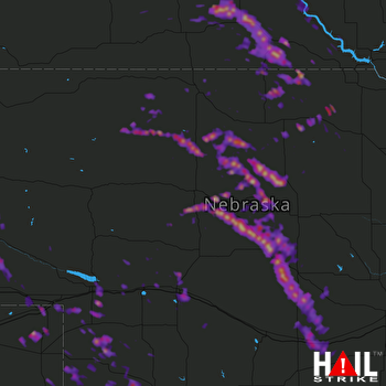 Hail Map Kearney, NE 08-12-2017