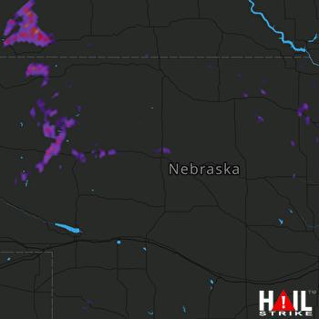 Hail Map Oneill, NE 08-15-2017