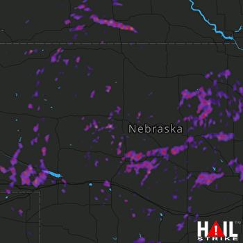 Hail Map North Platte, NE 08-15-2017